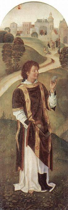 Sfântul Ştefan, pictură de Hans Memling